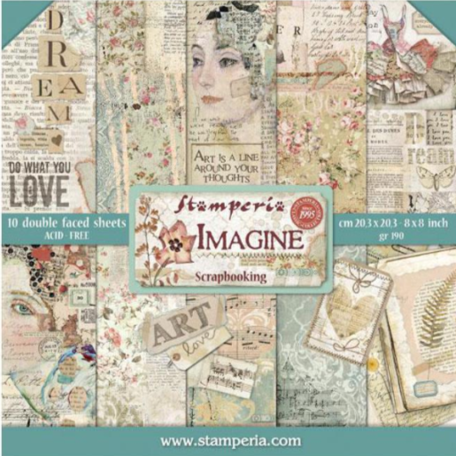 "stamperia imagine 8"" scrapbook paper pad"