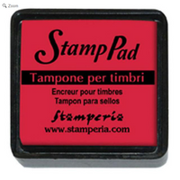 stamperia red pigment pad small