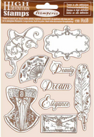 stamperia rubber stamp princess