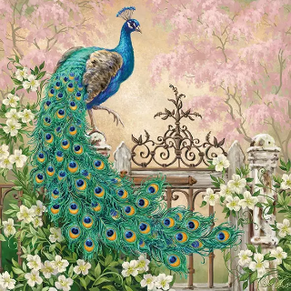 Noble Peacock Napkins