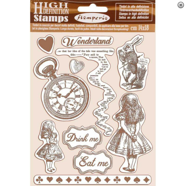 Stamperia Alice High Definition Rubber Stamp