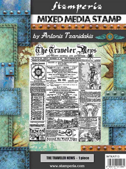 Stamperia High Definition Rubber Stamp Sir Vagabond The Travellers News