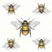 Bees napkin for decoupage