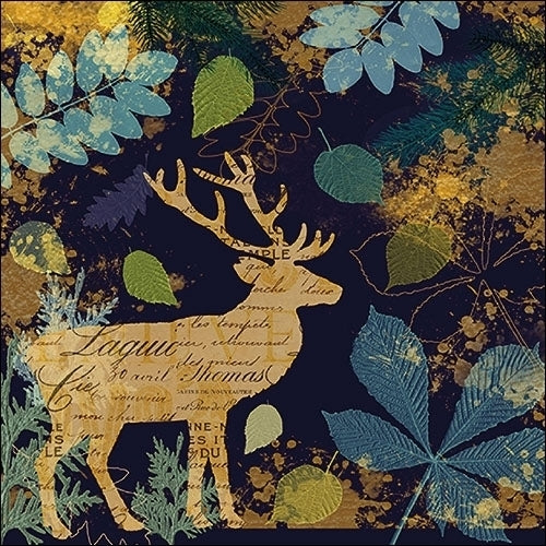 fall deer decoupage napkins