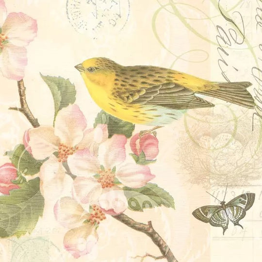 Bird and Blossom Napkins
