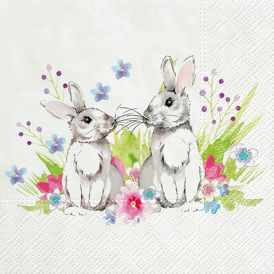 Bunnies in Love Napkins for Decoupage