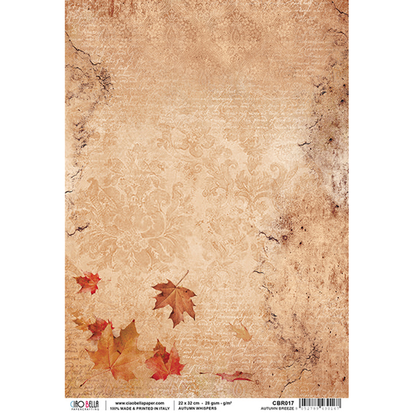 ciao bella rice paper for decoupage autumn whispers