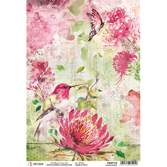 ciao bella rice paper hummingbird