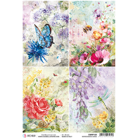 ciao bella rice paper for decoupage  microcosmos cards