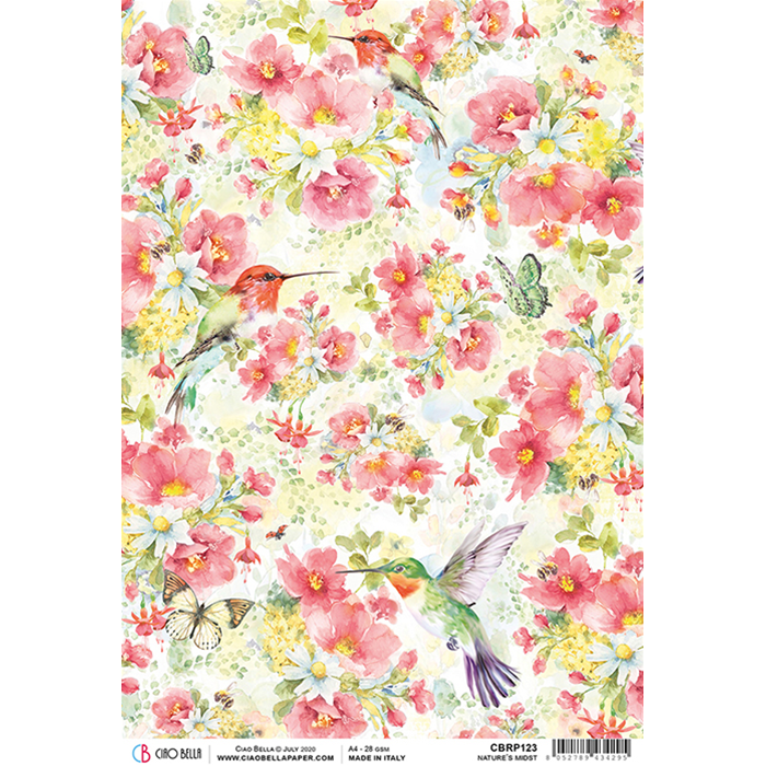 ciao bella rice paper for decoupage Nature's Midst