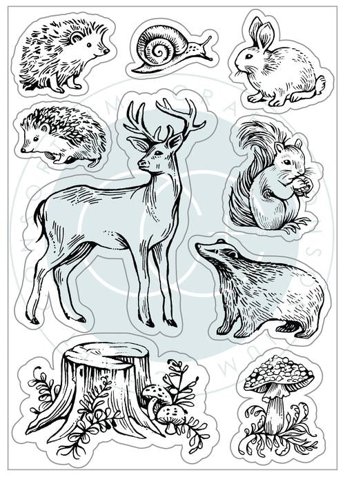 Craft Consortium Acrylic Stamp Set Woodland Animals
