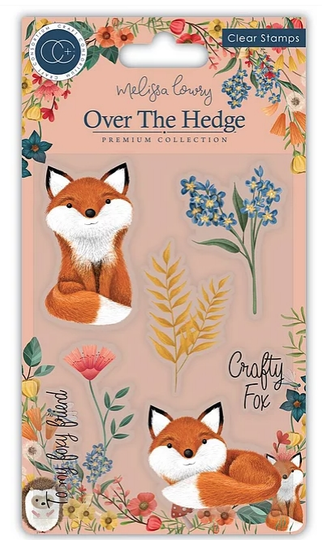 Craft Consortium Acrylic Stamp Set Over the hedge henry the Fox