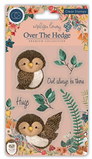 Craft Consortium Acrylic Stamp Set Over the hedge Olivia the owl