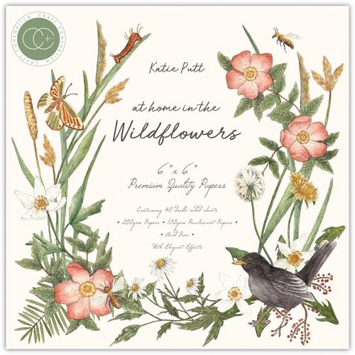Craft Consortium At Home in the Wildflowers 6x6 Premium Paper Pad