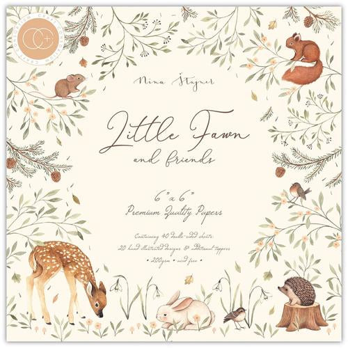 Craft Consortium Little Fawn and Friends 6x6 Premium Paper Pad