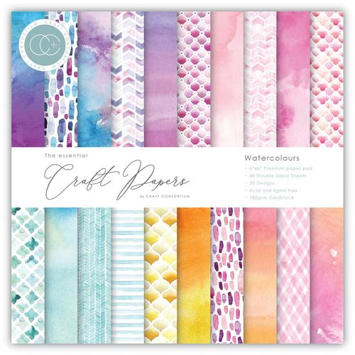 Craft Consortium Watercolours 6x6 Premium Paper Pad