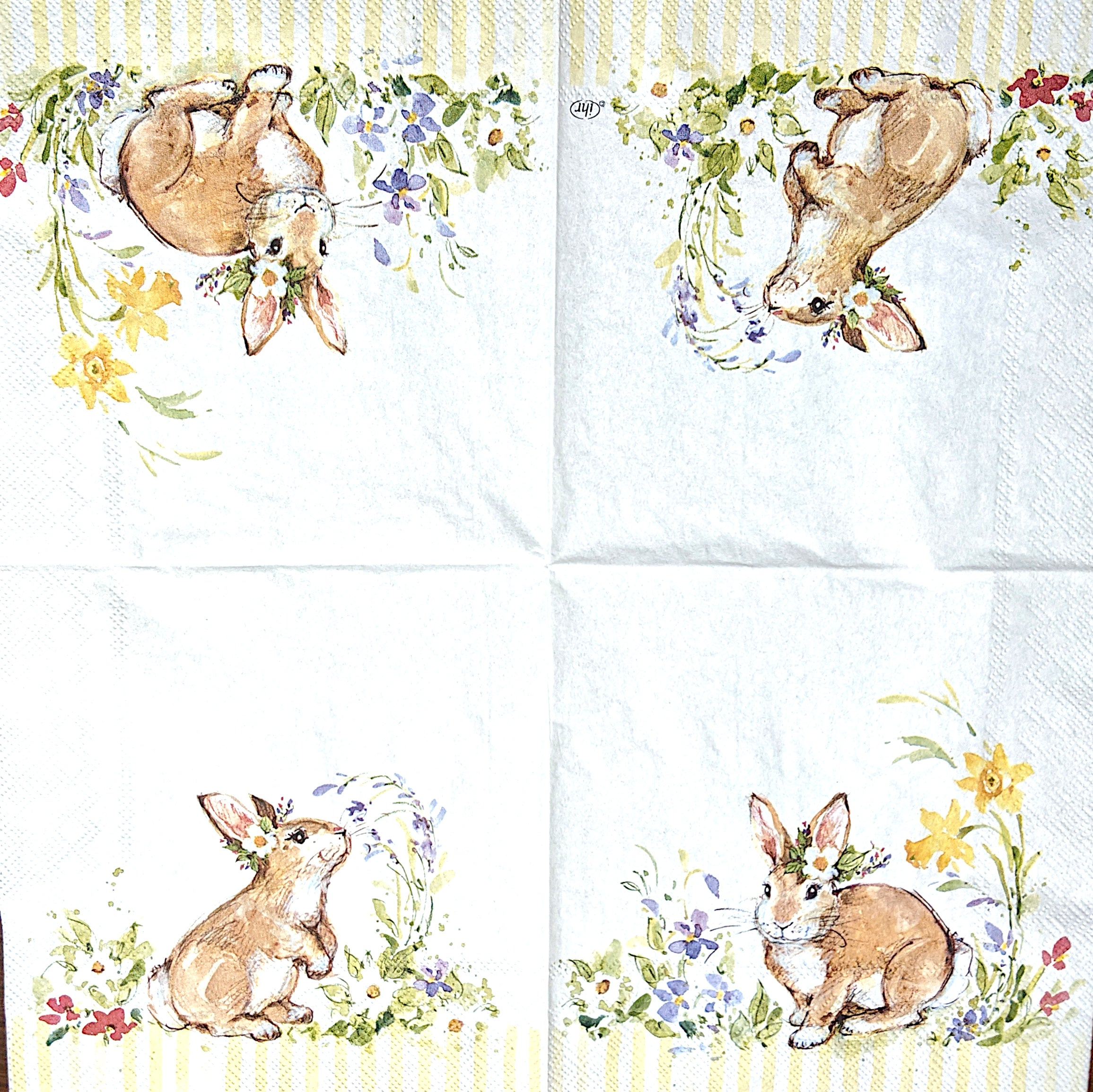 Lovely Bunny Lunch Napkins