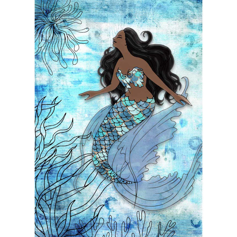 Decoupage Queen Mermaid II Rice Paper A4 0101