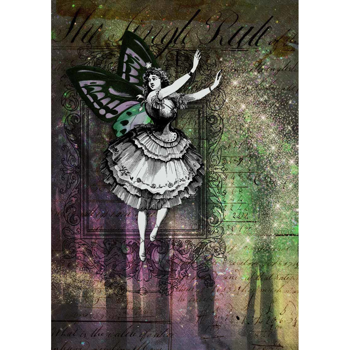Decoupage Queen Northern Lights Fairy Rice Paper A4 0070