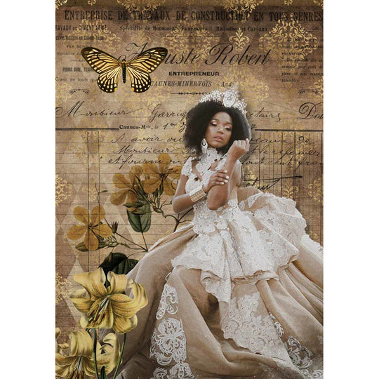 Decoupage Queen Queen of Everything Girls Rice Paper A4 0010