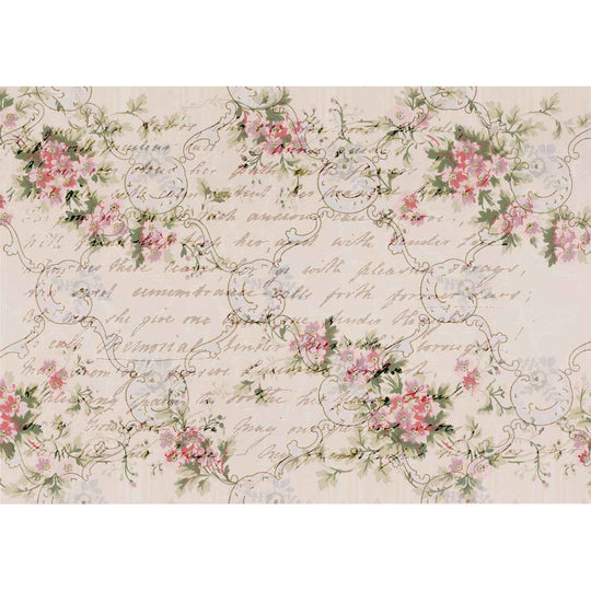 Decoupage Queen Shabby Roses Rice Paper A4 0083