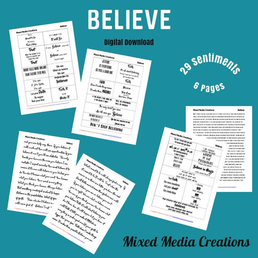 Believe Sentiment Pack
