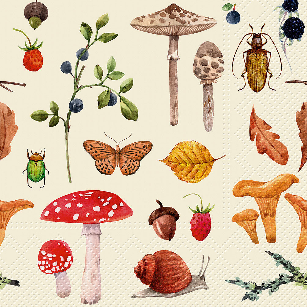 Forest Botany Napkins for Decoupage