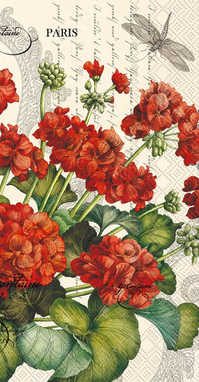 ninnys napkins for decoupage geranium