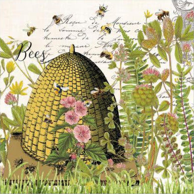 Honey Bees and Clover Napkins for Decoupage