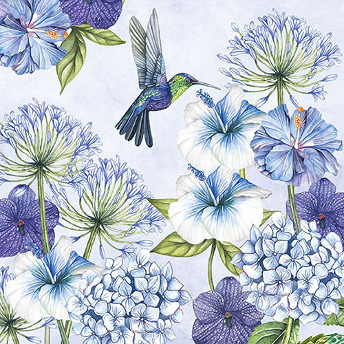 Hummingbird Napkin for Decoupage