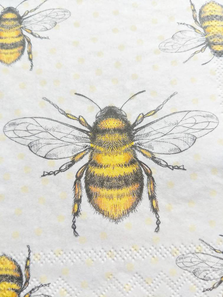 decoupage napkin bee