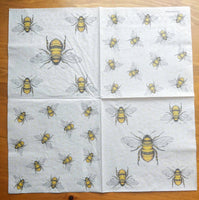 Bees -napkin for decoupage