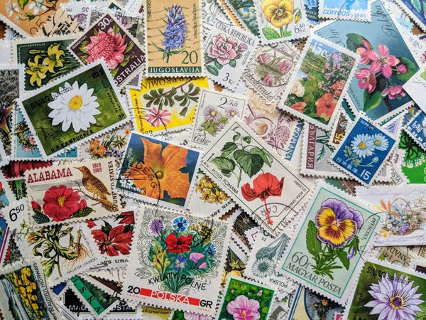 Flowers & Plants Stamps - Ninnys Napkins