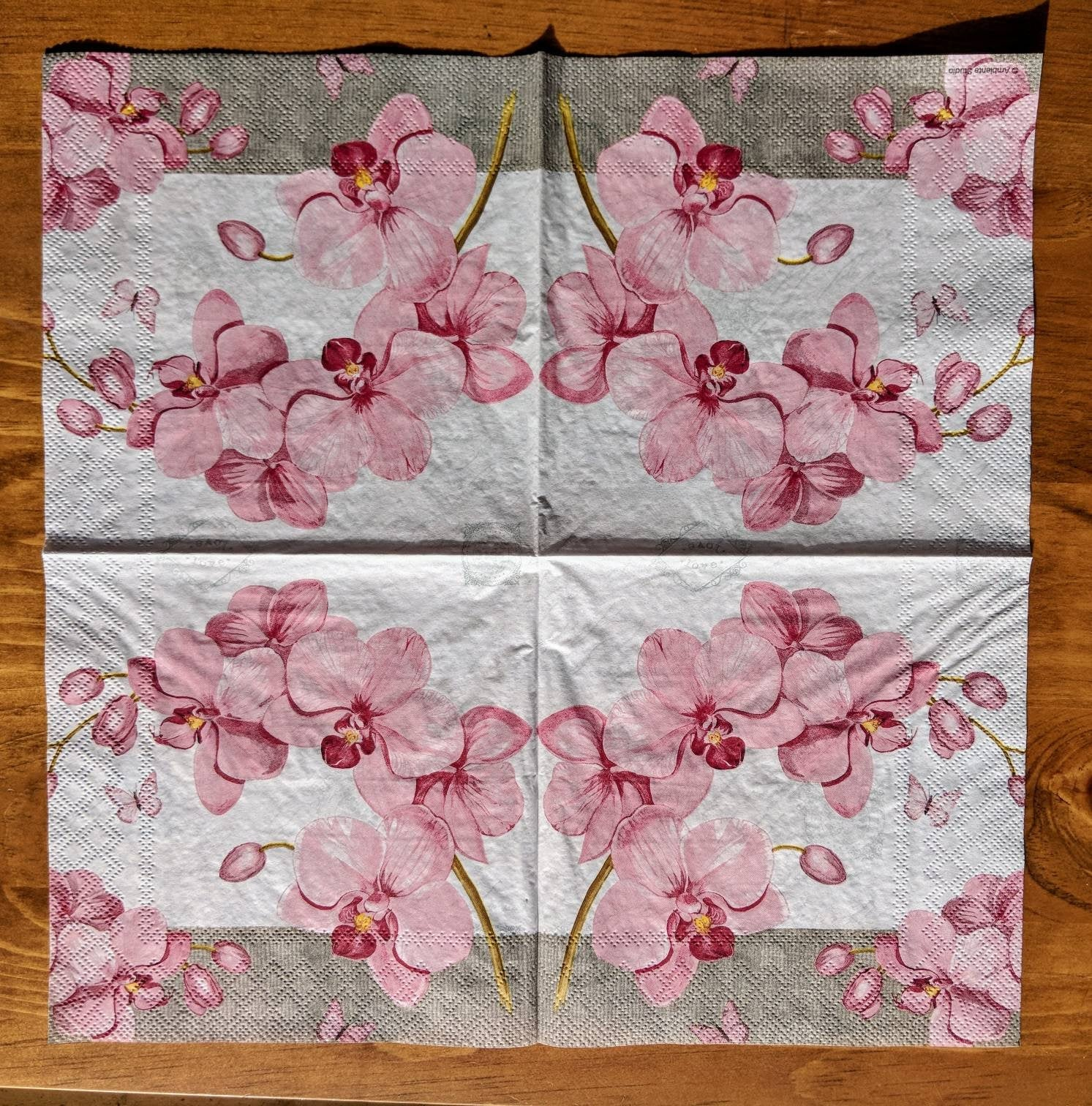 Orchids with Love - Ninnys Napkins for decoupage