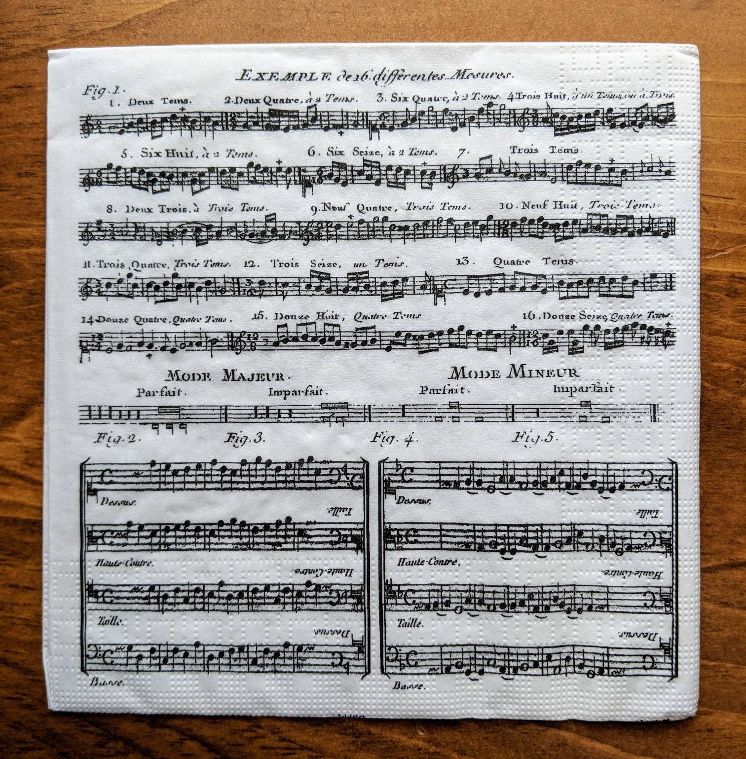 Adagio music napkin for decoupage