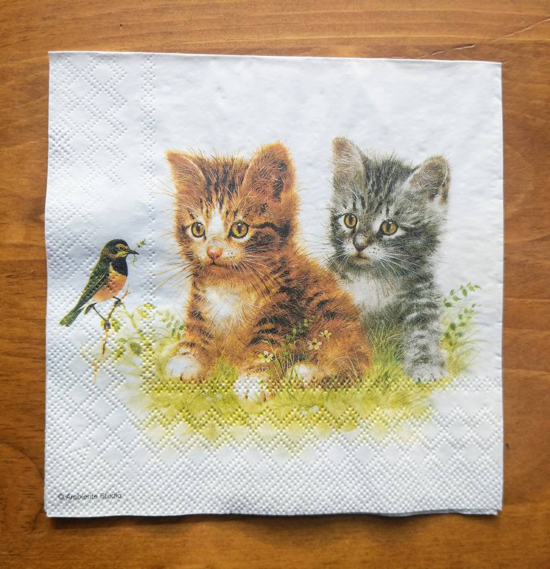 Kitten Friend - Ninnys Napkins