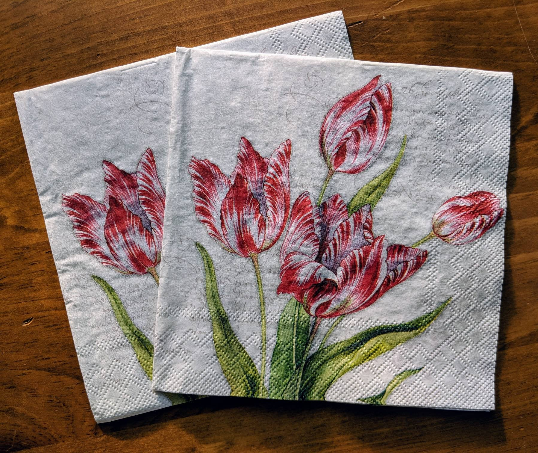 Classic Tulip - Ninnys Napkins for decoupage