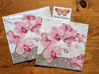 Orchids with Love decoupage napkin