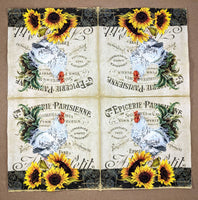 Rooster and Sunflower - Ninnys Napkins