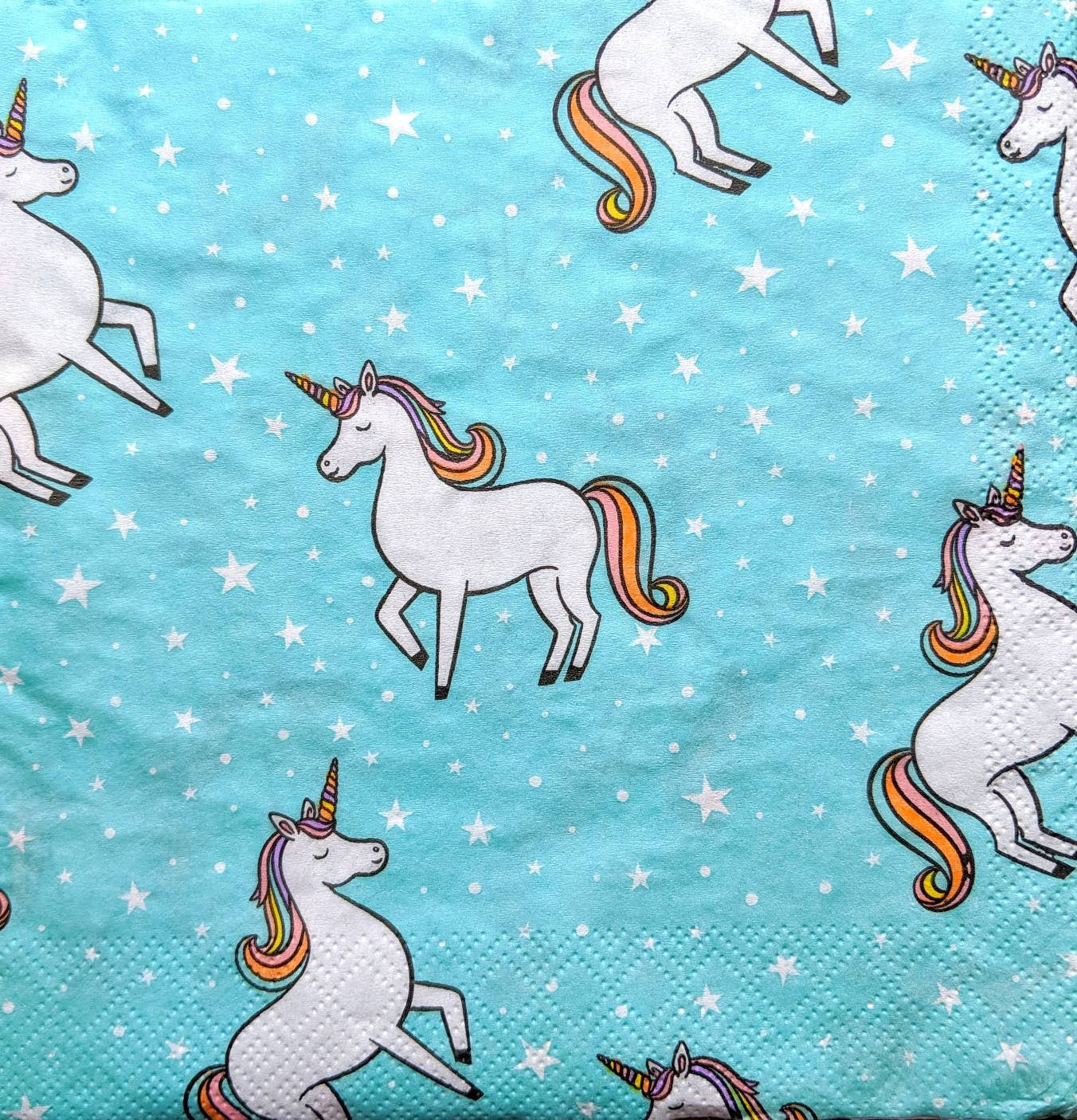 Rainbow Unicorn - Ninnys Napkins