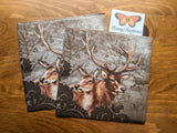 Deer Couple - Ninnys Napkins
