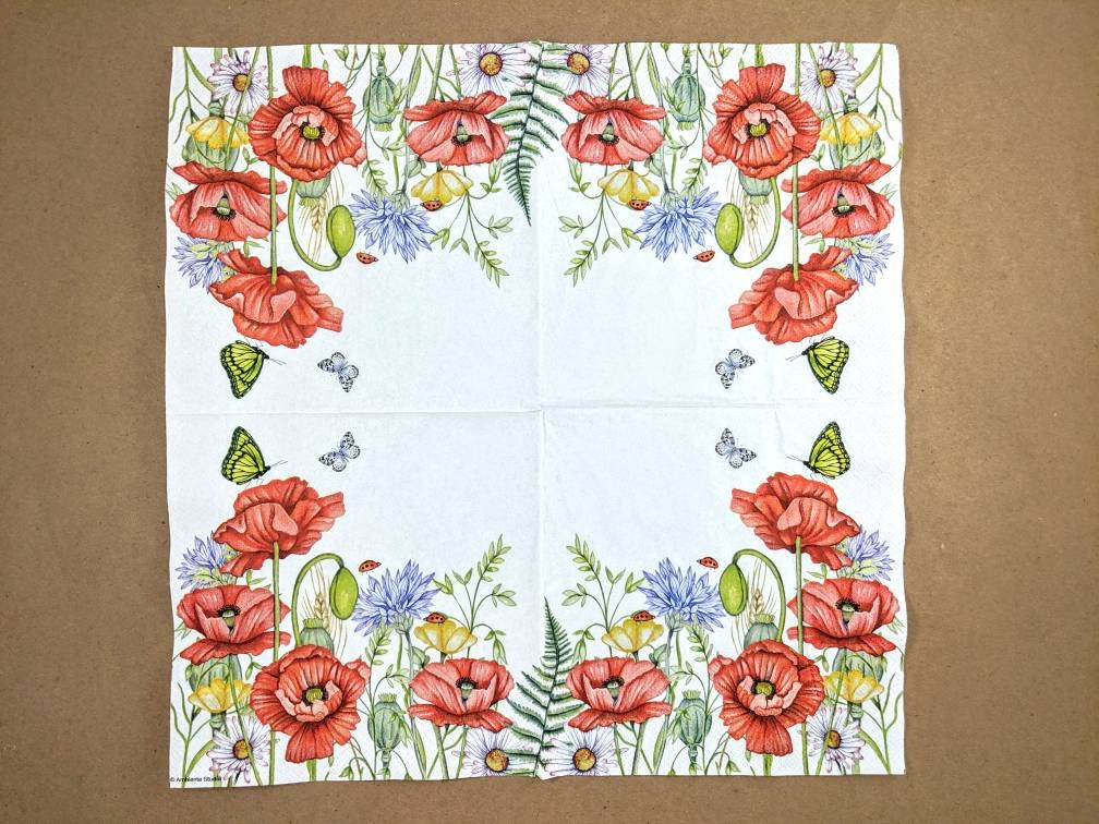 Summertime White - Ninnys Napkins for decoupage
