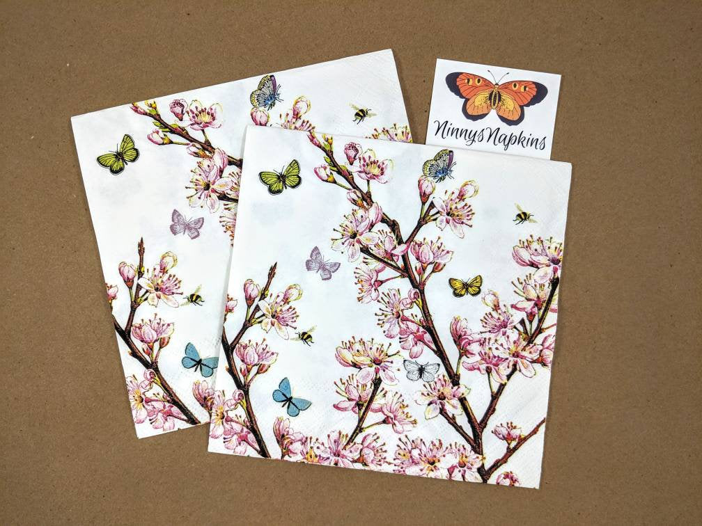 Blossom Cream - Decoupage Napkins