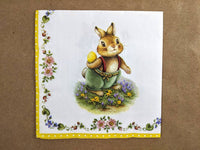 easter bunnies decoupage napkins