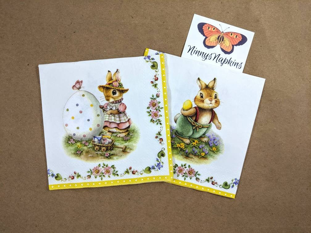 Spring Fantasy Egg - Ninnys Napkins for decoupage