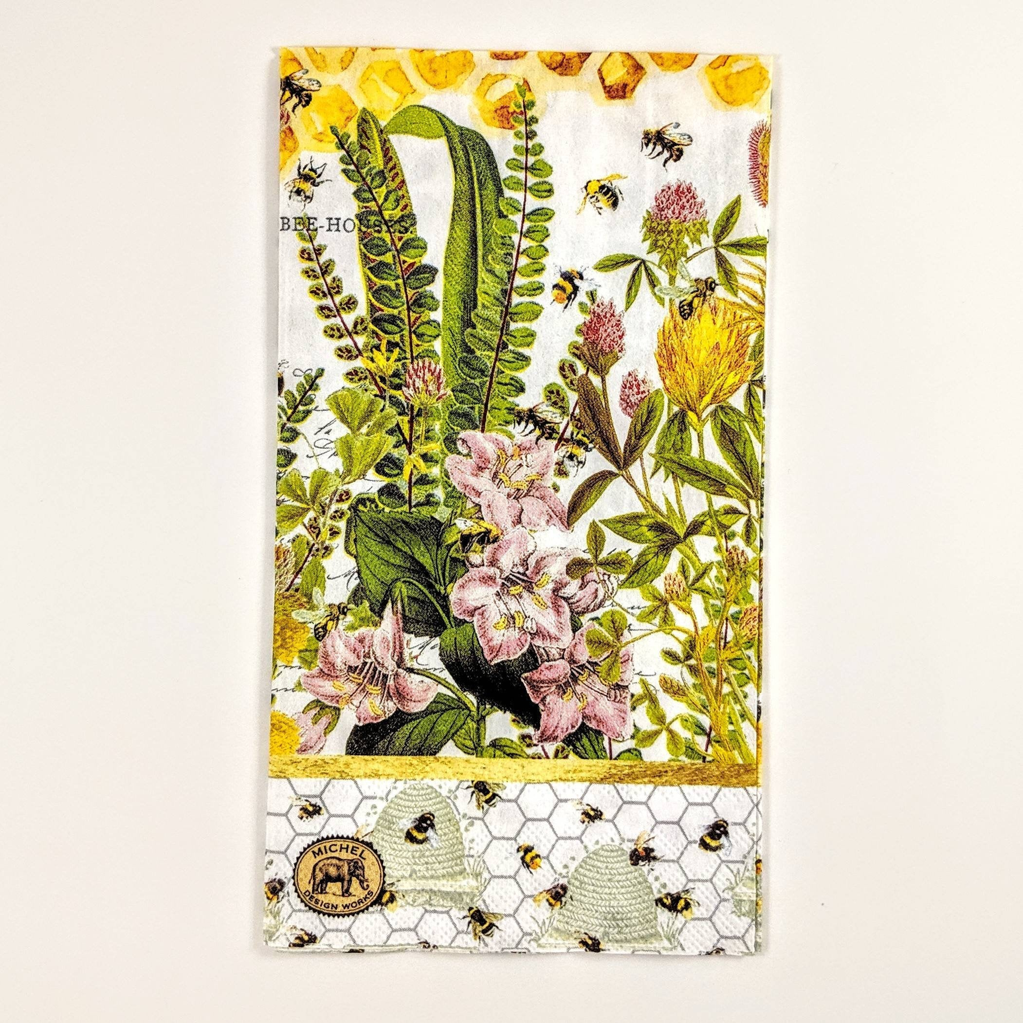 Honey Bees and Clover - Ninnys Napkins