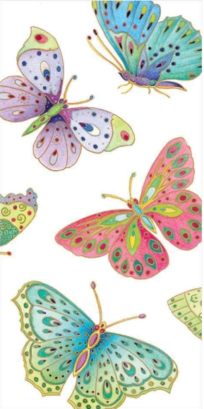 jeweled butterflies pocket tissue for decoupage