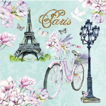 Bike in Paris Napkins