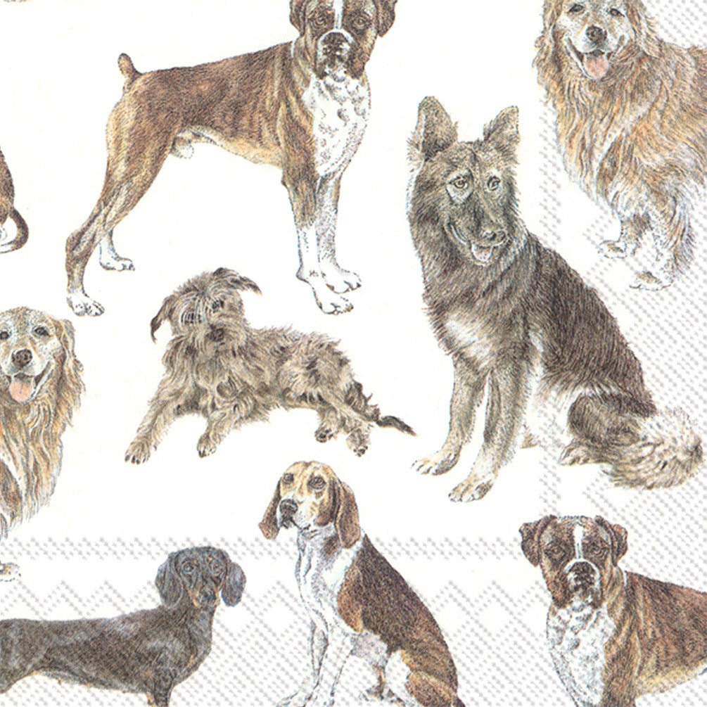 My Favorite Dog Napkins for Decoupage