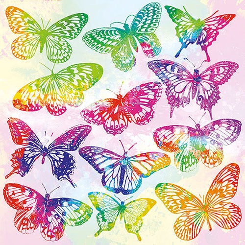 Decoupage Napkins Aquarell Butterflies